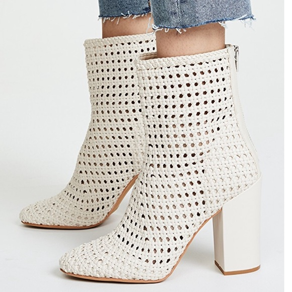 bf2f965e28e Scotch Woven Ankle Boots with Block Heel